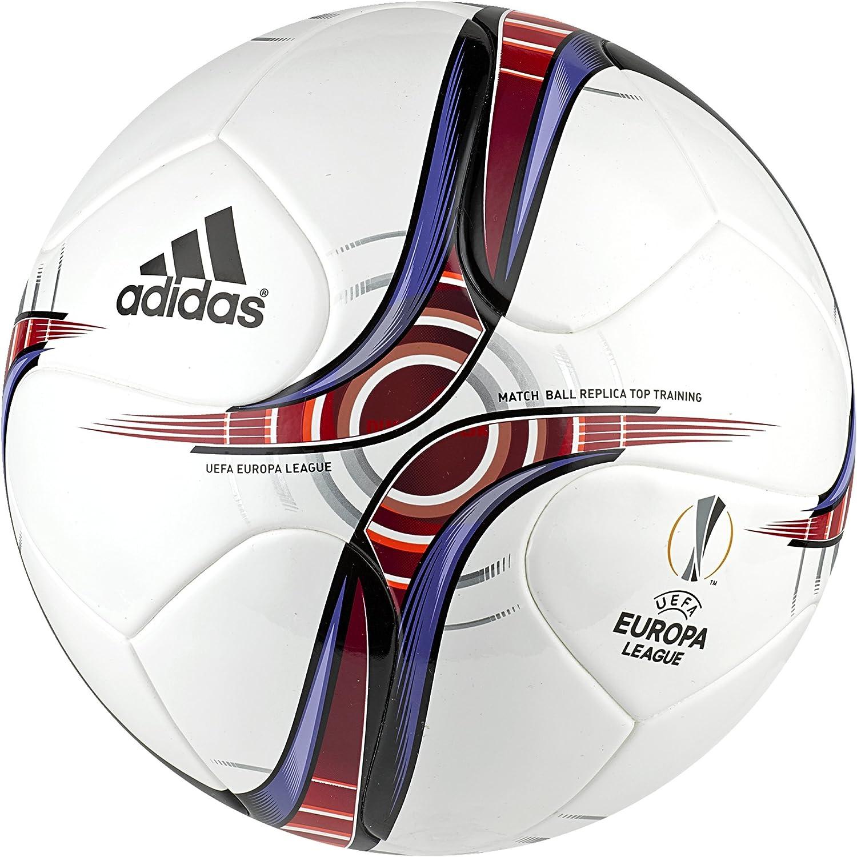 adidas UEFA Europa League Top Trainin - Balón de fútbol, Color Blanco, Talla 5 AP1691