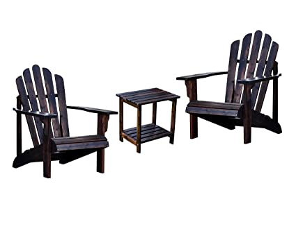 Amazon.com: Shine Westport Adirondack Sillas con rectangular ...