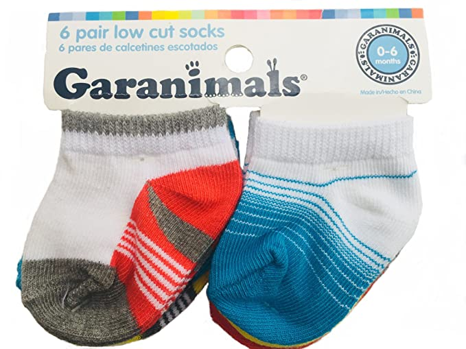 Baby Low cut socks 0-6 months,Multi Colored