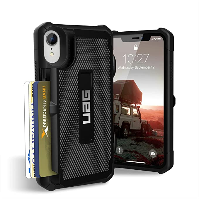 more photos 8bd75 b12be URBAN ARMOR GEAR UAG iPhone XR [6.1-inch Screen] Trooper Feather-Light  Rugged [Black] Military Drop Tested iPhone Case
