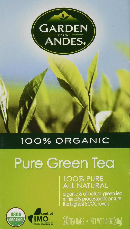 Garden of the Andes 100% Organic Pure Green Tea 20 Tea Bags