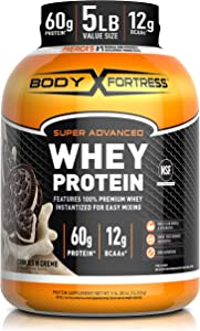 Body Fortress Whey Protein Powder 5 lb, Cookies n Creme