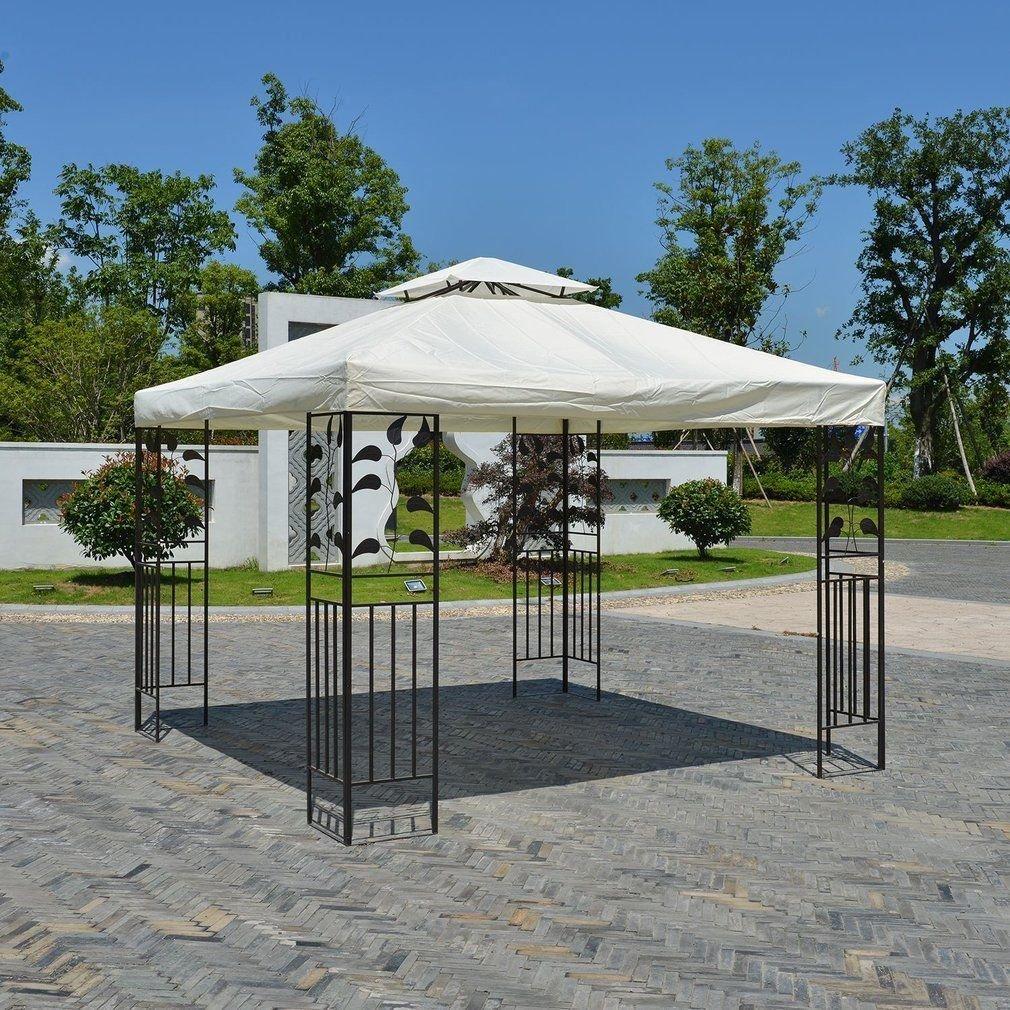 amazon com 10 u0027 x 10 u0027 gazebo replacement canopy top cover beige