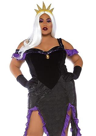 leg avenue size womens plus mermaid sea witch halloween costume blackpurple 1x