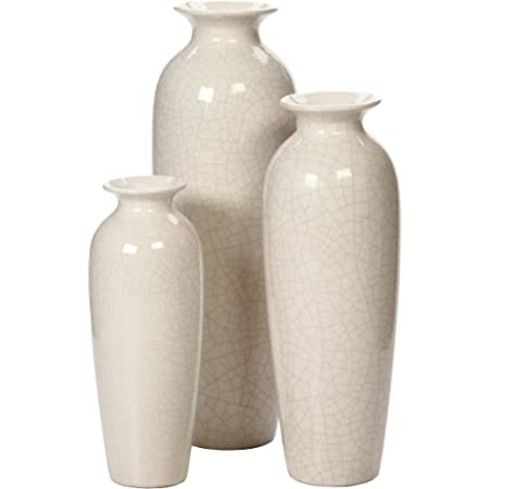 Amazon Com Hosley Casca Large Scale Architectural Floor Vase 17 5 Inch High White Ideal Gift For Wedding Floral Vase Party Home Decor With Votive Spa Candles O9 Kitchen Dining