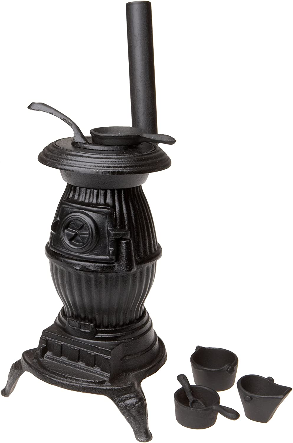 Old Mountain 10141 Black Mini Pot Belly Stove Set, with Accessories, 13 Inch Tall