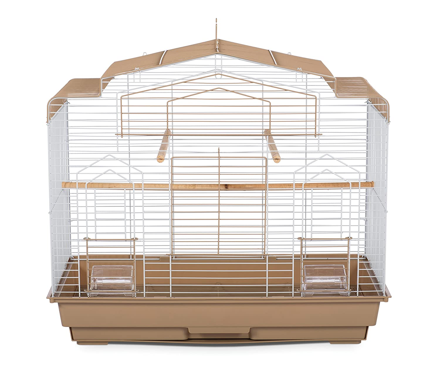 Prevue Pet Products Barn Style Bird Cage Brown/White SP50051
