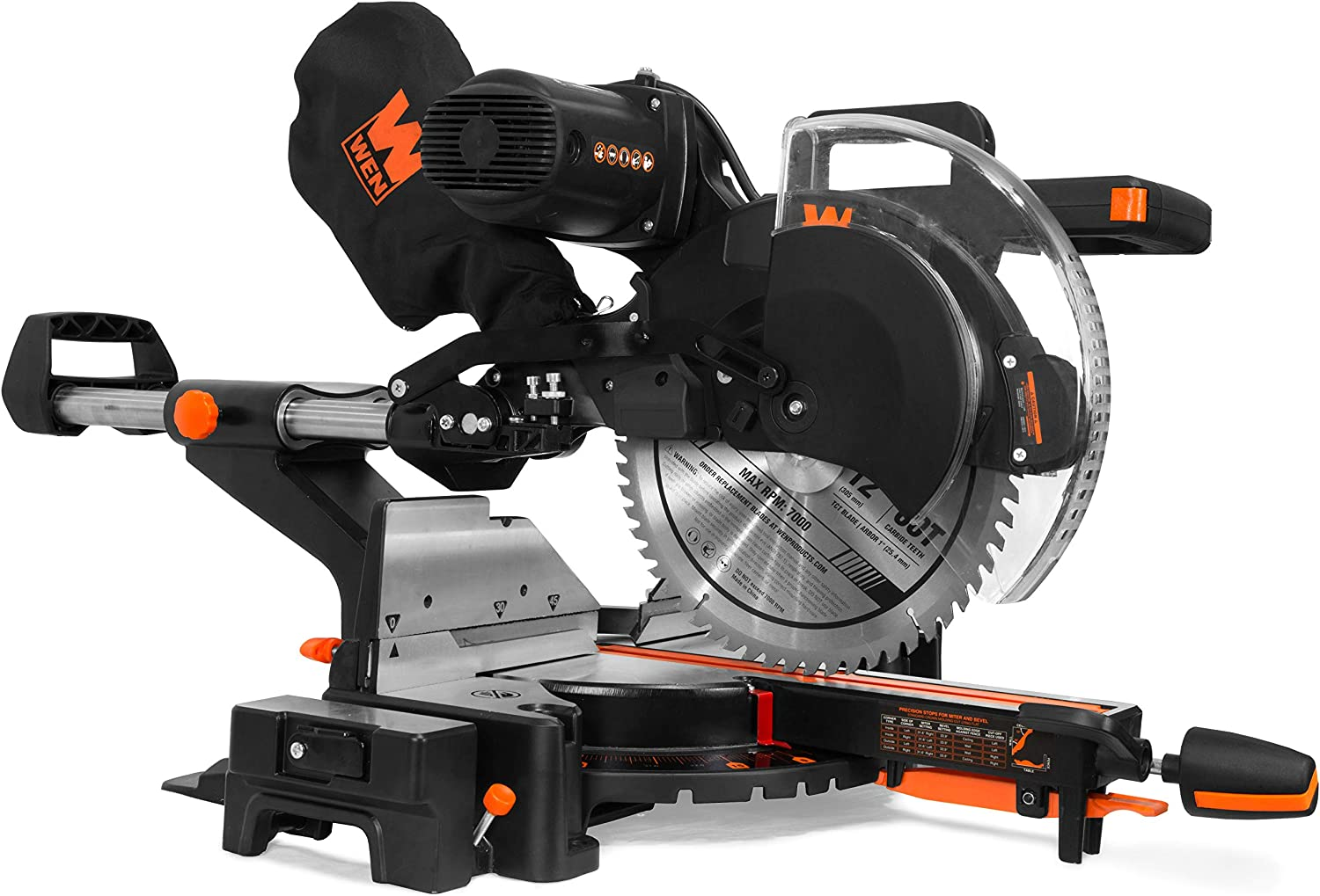 WEN MM1214 Dual-Bevel Sliding Compound Miter Saw