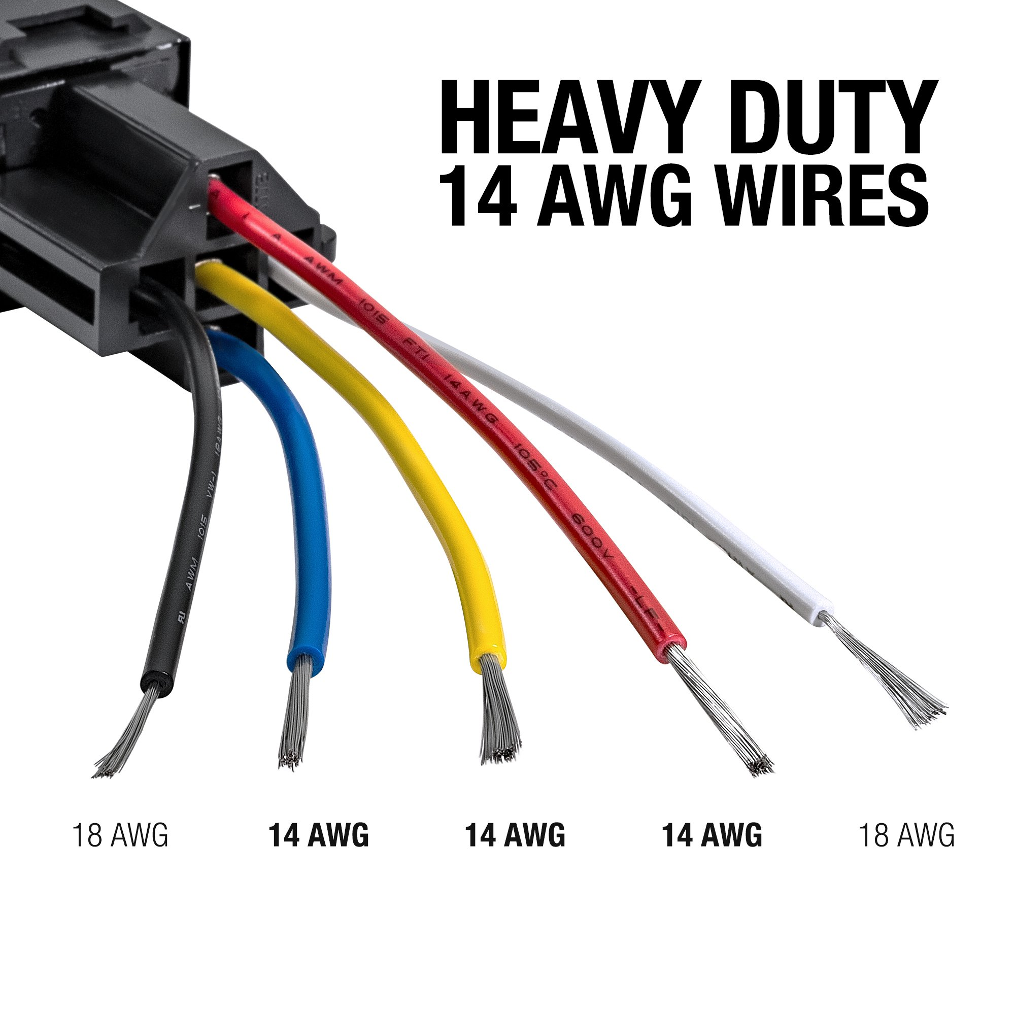 Online Led Store 6 Pack 12v Dc 40 30 Amp 5 Pin Spdt Automotive Bosch Wire Harness Relay Set Style With Interlocking Harnesses Pszacceps175r Starter