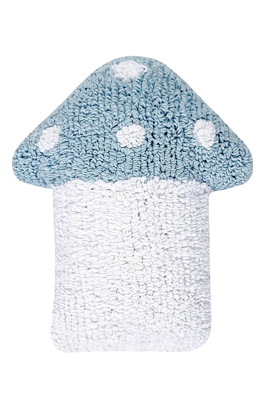 Happy Decor Kids HDK-CU-MU-BLW - Cojín lavable, color azul Lorena Canals HDK-CU-MU-BLW_Azul Blanco-120x160(S1pz)