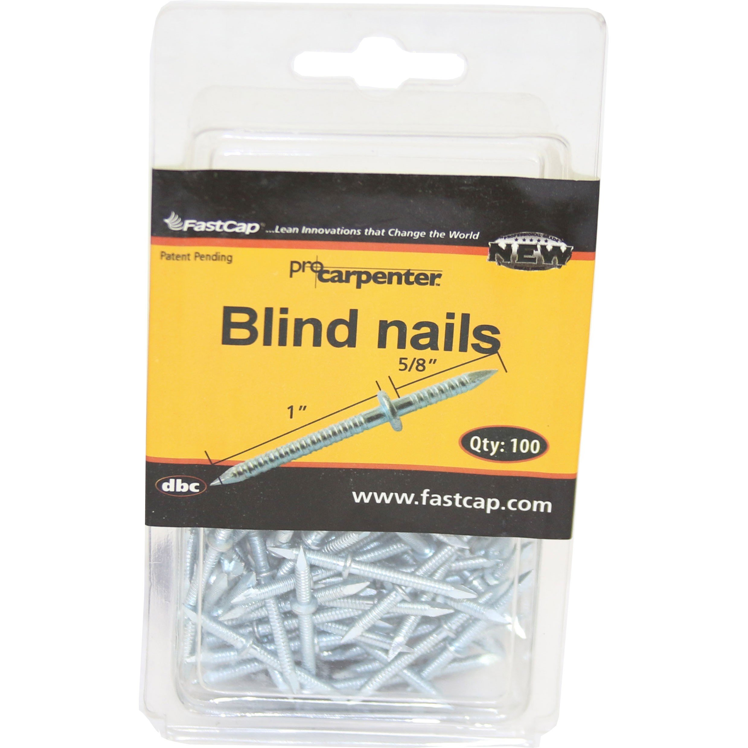 FastCap BLINDNAIL1XKIT Double-ended 1-inch x 5/8-inch Blind Nails, 100 Nails by Fastcap