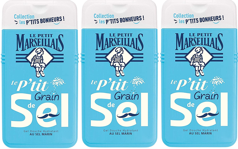 Le Petit Marseillais Gel Douche Hydratant au Sel Marin 250 ml - Lot de 3
