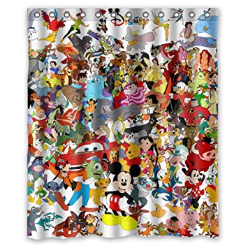 Infinite Pop Custom Waterproof Cute Cartoon Mickey Minnie Mouse Shower  Curtain