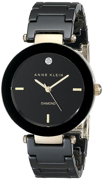 Anne Klein AK/1018BKBK - Reloj de pulsera Mujer, Cerámica, color Negro