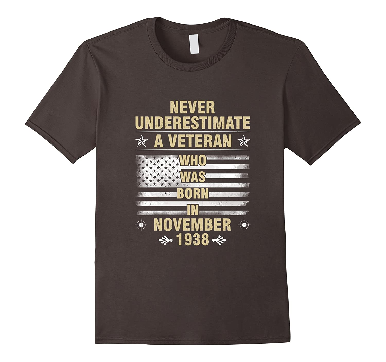 Born In November, 1938 – Birthday – Veterans T-shirt