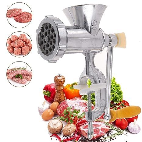 Vinteky Picadora Carne Manual de Acero Inoxidable: Amazon.es