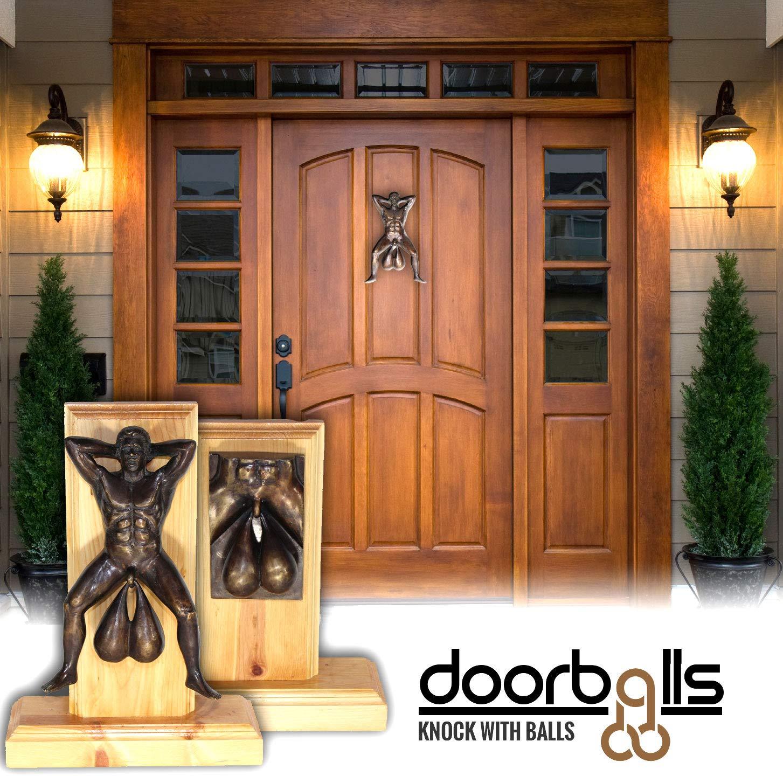 Bronzed Door Knocker With Balls by Doorballs