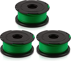 LBK INTERNATIONAL LBK Replacement Trimmer Spool Line for Black+Decker, compatible with SF-080 Auto Feed Spool Single Line Trimmer,3-Pack