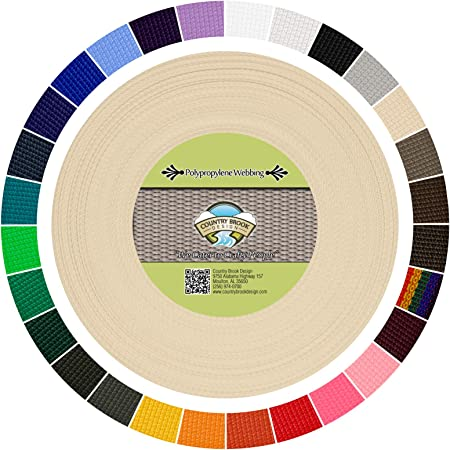 Country Brook Design® 1 Inch Hot Green Polypro Webbing 25 Yards