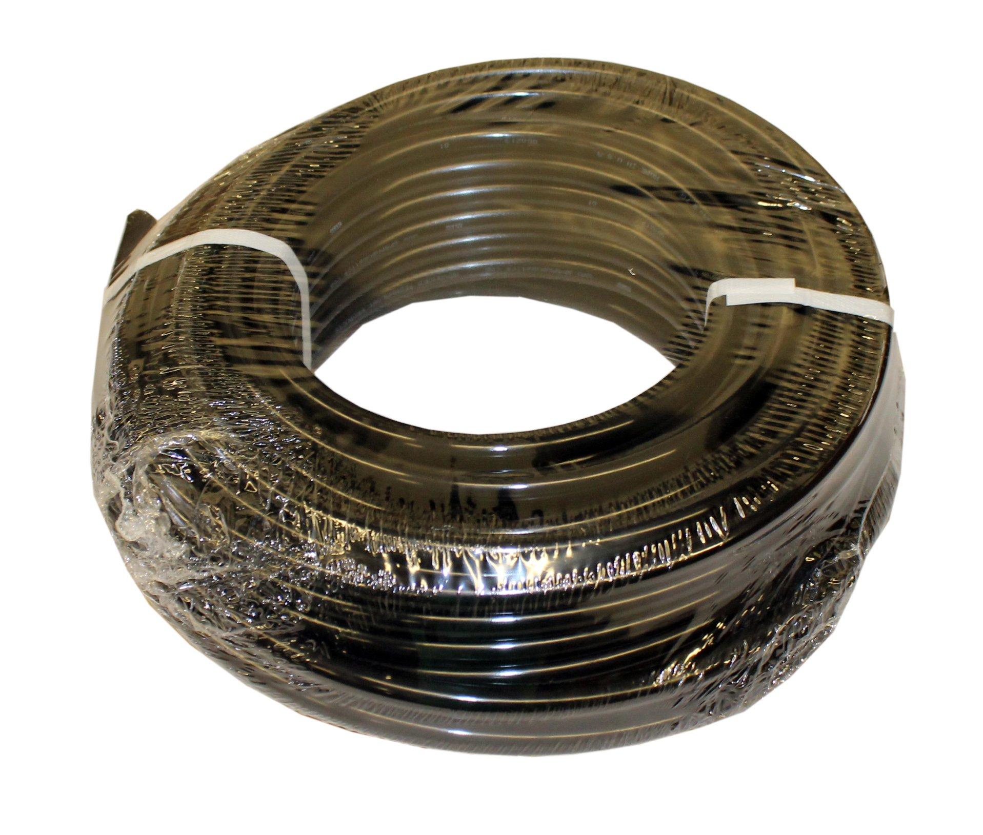 ATP Nylochem Nylon Metric Plastic Tubing, Black, 6 mm ID x 8 mm OD, 500 feet Length