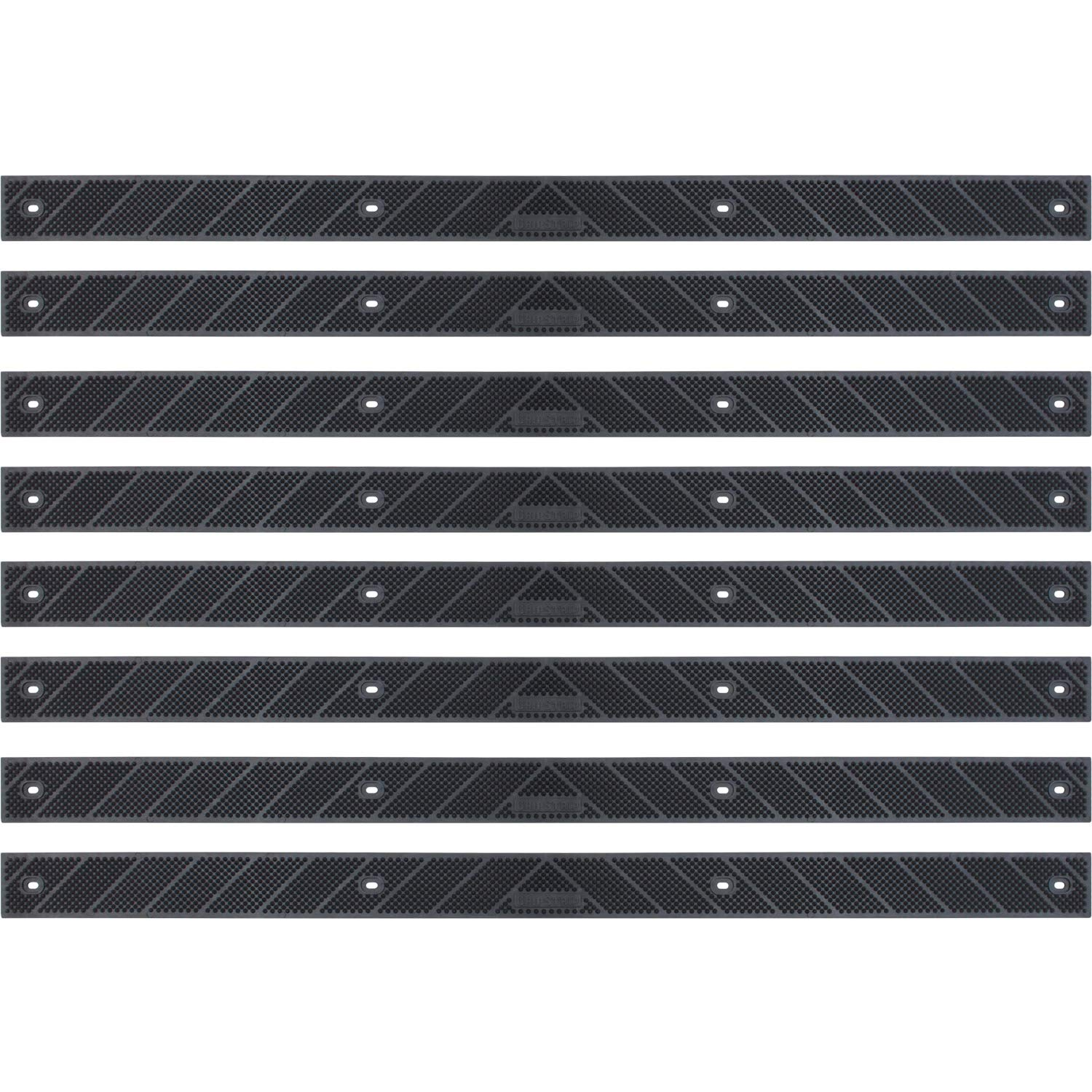 Grip Strip Black Treads, Screw Down Strip No Adhesive all Weather Deep Valley Abrasive Traction - Increase Safety & Injury in your Home or Outdoor Settings, L 32'' x W 2'', 1/8 thickness (8 Pack, Black) by GripStrip