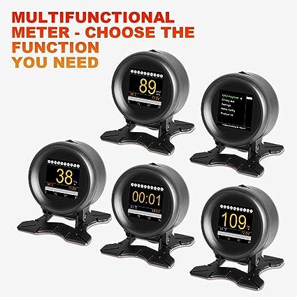 AUTOOL X60 Coche OBD GPS HUD Multi-función Medidor Digital de Alarma de Velocidad de Agua-Temp Gauge Malfunction-Test para 12 V OBD-II Vehículos ...