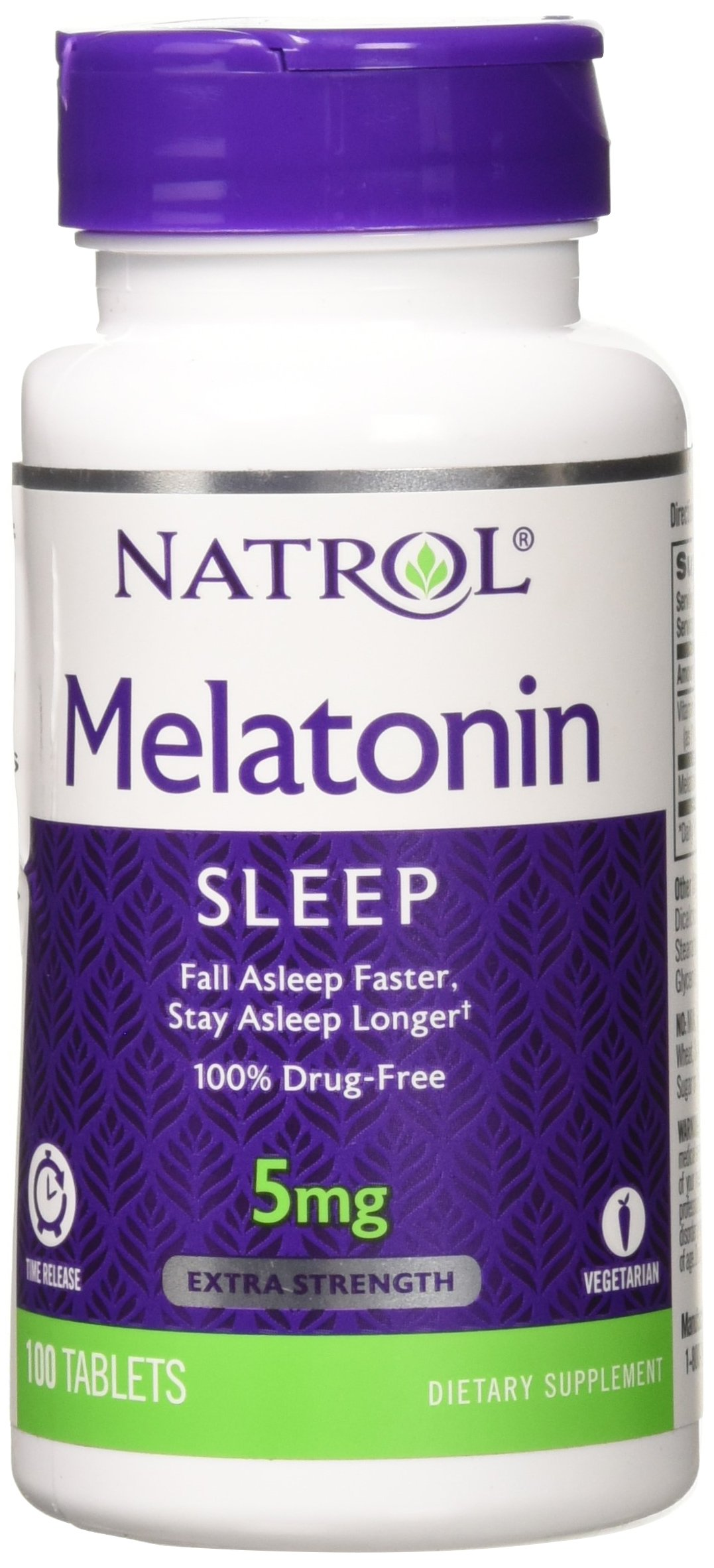 Natrol Melatonin Time Release 5mg Tablets 100 ea