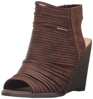 Fergalicious Women's Heather2 Wedge Sandal, Cognac, ...