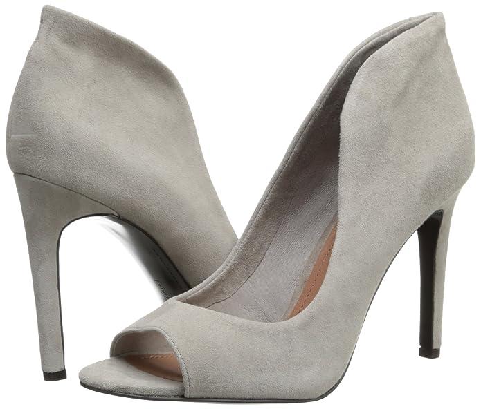 Women/'s Shoes Vince Camuto KAROLYNN Peeptoe Pumps Heels BLACK SUEDE