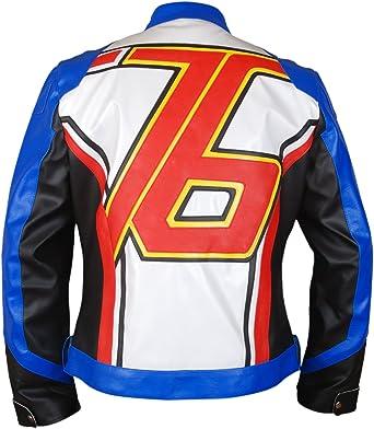 Overwatch Soldier 76 Men/'s Cosplay Jack Morrison Leather Jacket Halloween
