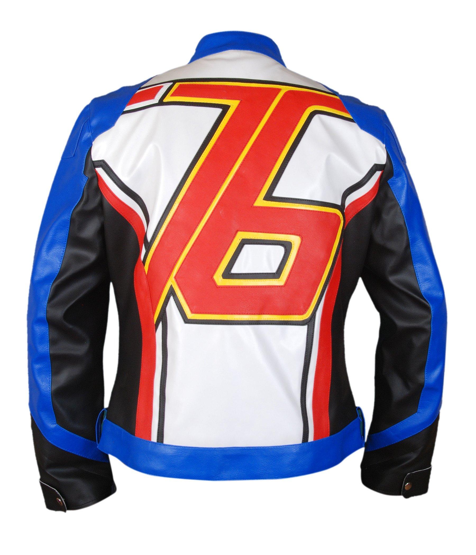 F&H Boy's Overwatch Soldier 76 John Jack Morrison Genuine Leather Jacket M Multi