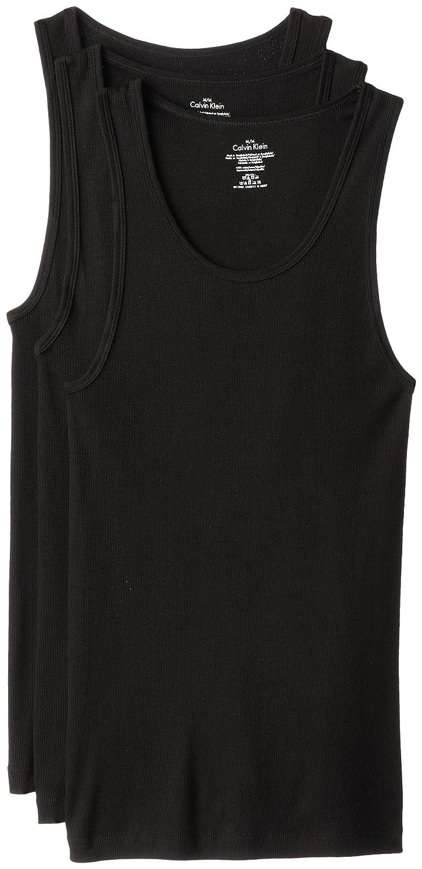 Calvin Klein Men's 3-Pack Cotton Classic Rib Tank Top