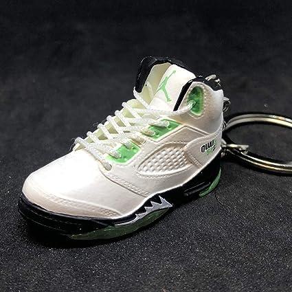 58653b33c30a9 Amazon.com: Air Jordan V 5 Retro Quai 54 White Green Q54 OG Sneakers ...