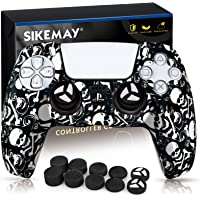 SIKEMAY Silicone Printing Cover Skin for PS5 Dualsense Controller Grip x1, Protective Case for Playstation 5 Accessories…