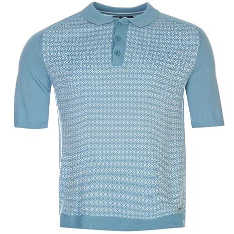 Pierre Cardin Jacquard de punto Polo camiseta para hombre Sky Top ...