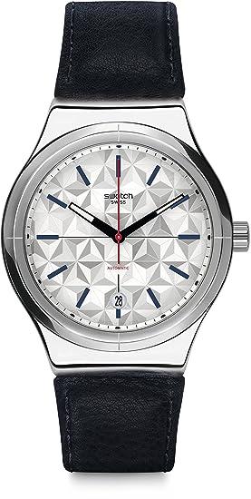 Swatch Reloj Digital para Hombre de Automático con Correa en Cuero YIS408: Amazon.es: Relojes