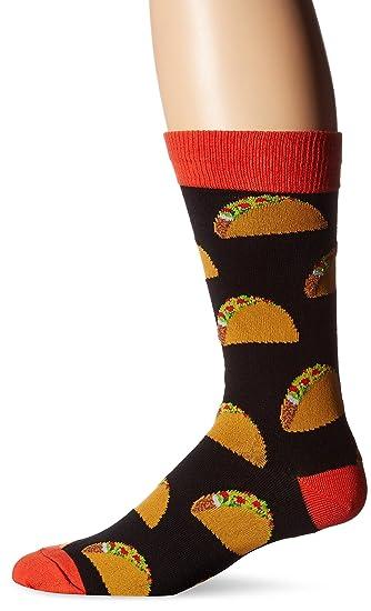 Socksmith Tacos, Calcetines para Hombre, Negro Black, Talla única