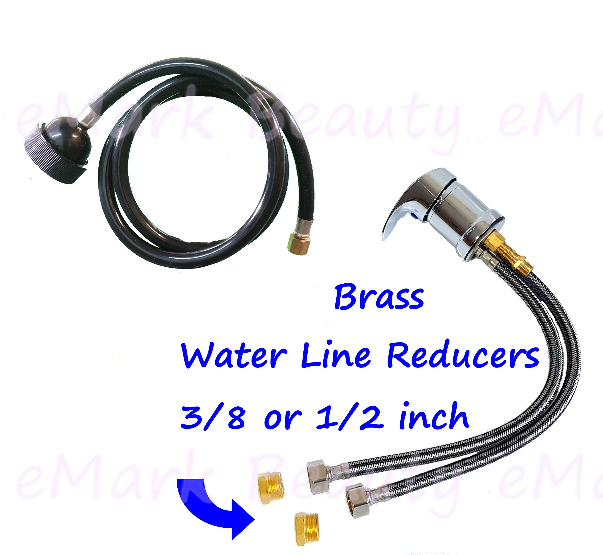 eMark Faucet and Spray Hose for Beauty Salon Shampoo Bowl Parts Kit with Reducers Included - 1164SH