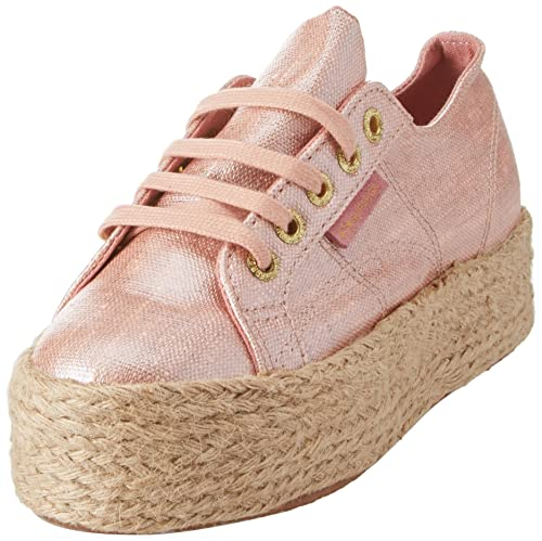 Superga linrbrropew Plateau Da Donna Sneaker Tessile rose in varie dimensioni
