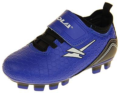 Footwear Studio Gola Jungen Activo5 Astroturf Fußballschuhe Sports Turnschuhe Gelb, Schwarz und Rot EU 26