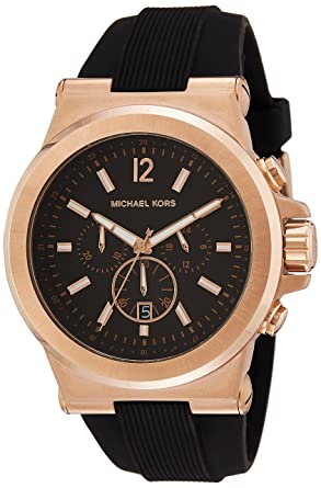 Amazon.com: Michael Kors Mens Dylan Watch, 48mm, Black, One ...