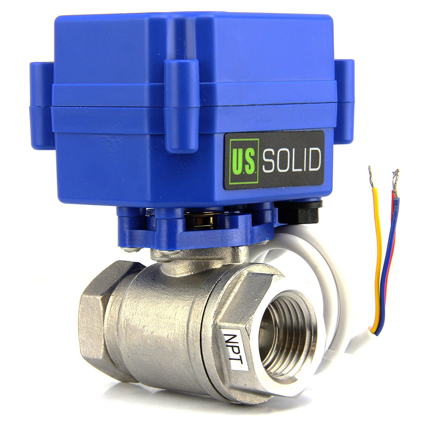 """Amazon.com: Motorized Ball Valve- 3/4"""" Stainless Steel Electrical Ball Valve  with Full Port, 9-24V AC/DC and 3 Wire Setup by U.S. Solid …: Home  Improvement"""