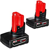 Milwaukee 48-11-2412 Twin Pack of 3.0 Amp Hour Extended Capacity 12V Lithium Ion Batteries