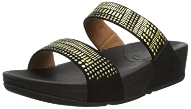 f6ebe2dfdc4512 Fitflop Women s Aztec Chada Slide Flat Sandals  Amazon.co.uk  Shoes ...