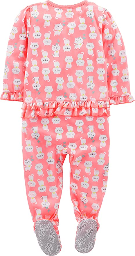 Simple Joys by Carters 3-Pack Loose Fit Flame Resistant Fleece Footed Pajamas Beb/é-Ni/ños