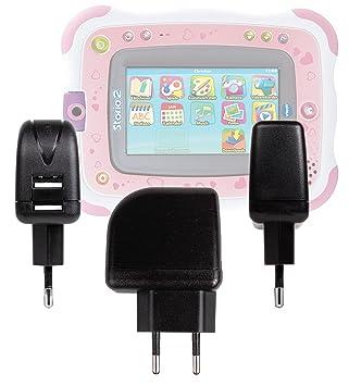 DURAGADGET Cargador Con Enchufe Europeo Compatible Con La Tablet De Niños Vtech Storio 2 / Storio 2 + Juego De Rufus - Con Doble Entrada USB