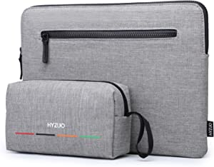 HYZUO 14 Inch Laptop Sleeve Slim Case Bag Compatible with IdeaPad 3 14/HP EliteBook 14/HP Pavilion 14/Surface Laptop 15/Acer Swift 3 14/HP Stream 14/Asus VivoBook 14/Huawei MateBook D 14, Grey