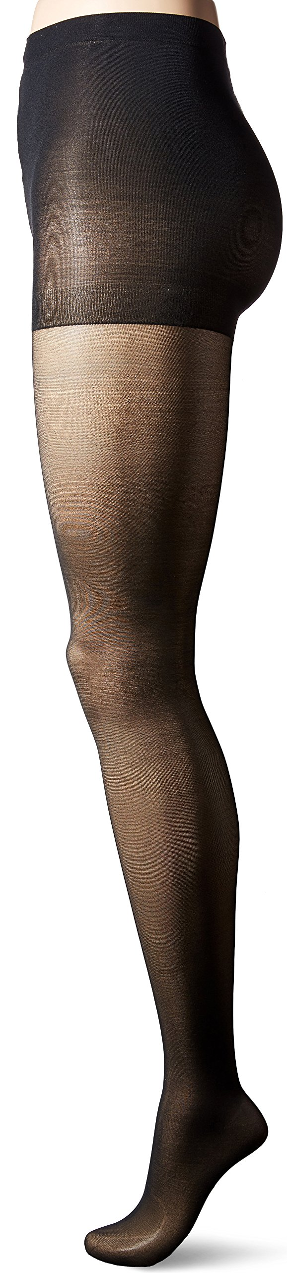 L'eggs Women's Sheer Energy Control Top Toe Pantyhose, Jet Black, Q