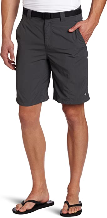 NWT $40 COLUMBIA MENS SILVER RIDGE BELTED SIDE ZIP SHORTS TAN SIZE 44