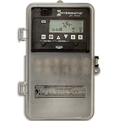 Intermatic ET1125CPD82 24-Hour 30-Amp 2 Circuit SPST or DPST Electronic on